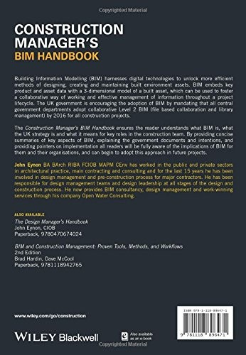 The Construction Manager S Bim Handbook Book By John Eynon Bimlar